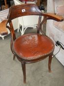 An old elbow chair.