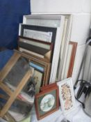 A large quantity of picture frames,