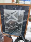 A framed and glazed large photograph