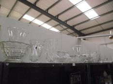 A mixed lot of glass ware including moulded and Edinburgh crystal.