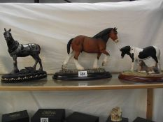A collection of Country Artist's, Border and Regency Fine Arts horses including Clydesdale.