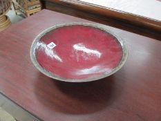 An art pottery bowl