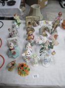 A large quatity of figurines including Dresden etc