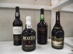 3 bottles of port and a bottle of Irish country cream.