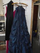 2 bridesmaids/prom dresses/gowns, emerald breen size 10 and Fuschia size 14 with scarf.