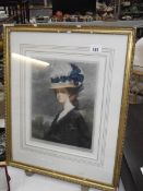 A fine artist's proof print of a gentlewoman signed Sidney E Wilson, image 27 x 36 cm, frame a/f.