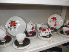 A Royal Albert Tahita pattern tea set.