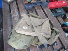 Three old knapsacks