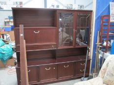 A mahogany display unit