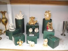 A quantity of boxed and unboxed Harmony Kingdom treasure chests, netsuke etc.