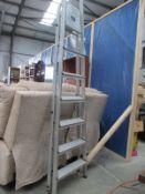 A tall aluminium step ladder