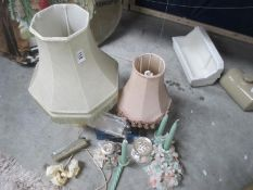 Two table lamps,