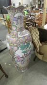 A tall 20th century Chinese vase, 125 cm. (collect only).