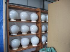 A collection of 19 globe ceiling shades / fitments