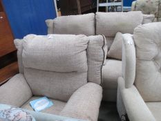 An electric sofa and matching chair