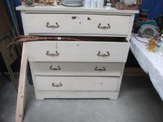 An old 5 drawer chest of drawers