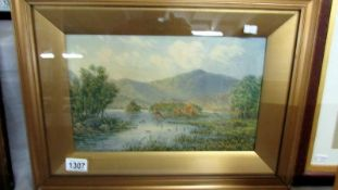 A framed and glazed watercolour 'Lake District' signed William Taylor Longmire, image 33 x 20 cm.