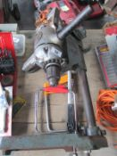 A pillar drill and stand etc
