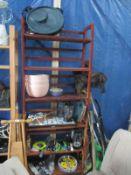 5 shelves of kitchen items etc