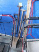 A quantity of tools, shovels,
