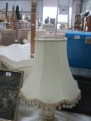 A standard lamp and a table lamp