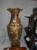 "A mid-late 20th century Japanese Satsuma style vase, 24"" tall."
