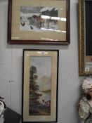 2 framed and glazed prints of cattle