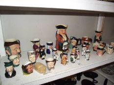 A good lot of Toby jugs etc., including a large musical example.