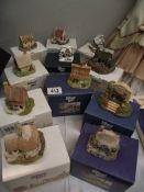 11 boxed Lilliput Lane cottages (some boxes a/f)