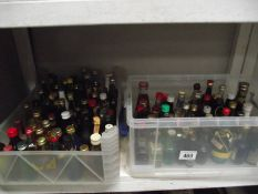 A large lot of miniature bottles of alcohol