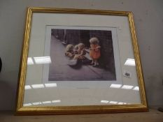 A framed and glazed limited edition print 262/850 'When The Sun Shines' by Marc Grimshaw