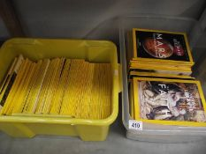 2 boxes of National Geographic magazines