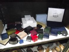 A good lot of jewellery boxes.