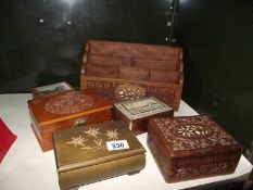 An old letter rack, wooden boxes etc.