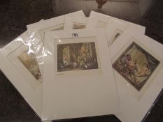 Thomas Rowlandson (1756-1827) Collection of 7 risque/erotic prints/plates circa 1960s.