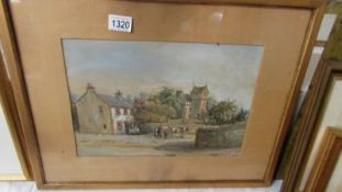 A pastel and watercolour painting signed Herkis Hume Nesbit (1849-1923) 1877, Glasgow School,