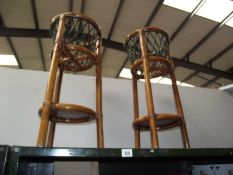 2 bamboo plant stands.