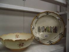 A large Doulton charger and Ducal bowl a/f