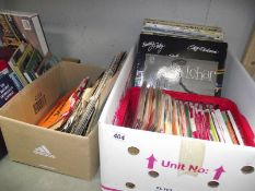A quantity of singles and LP records including Cliff Richard, Shirley Bassey,
