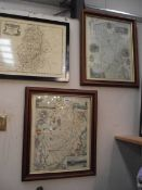 A framed and glazed map of Nottinghamshire by Robert Marden,