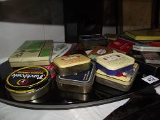 A quantity of old tins