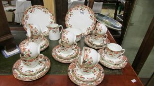39 pieces of Atlas china tea ware.