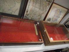 2 glazed jewellery cabinets