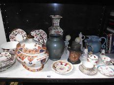 A mixed lot of ceramics including tobacco jar, tea ware etc.