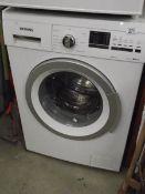 A Siemans washing machine.