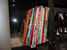 A quantity of children's annuals including Superman, Batman, Tiger, Victor, Z Cars etc.