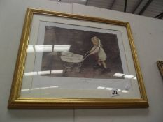 Walking The baby' framed and glazed limited edition print 30/850 by Marc Grimshaw