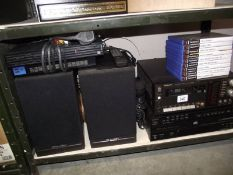 A Technics cassette player, a Sony CD player, a Playstation and games etc.