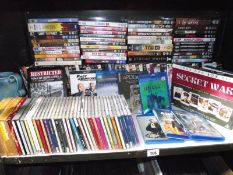 A large quantity of CD's, DVD's and Bluerays.