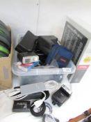 A quantity of photographic equipment.
